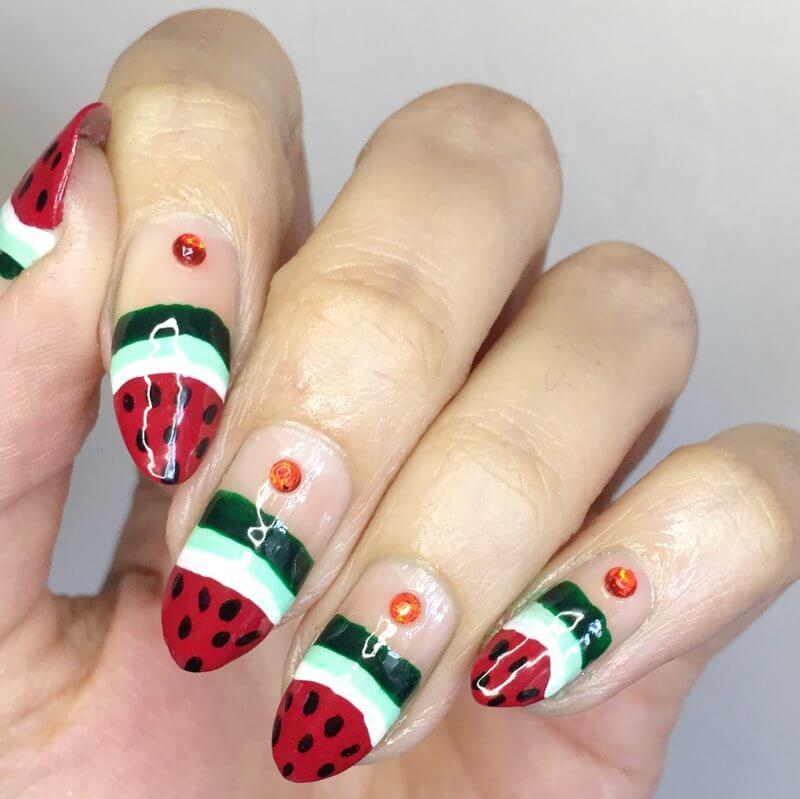 Truly Madly Beauty Notd Watermelon Nail Art Tutorial
