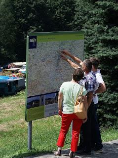 itinerario, mapa, naturaleza, turismo
