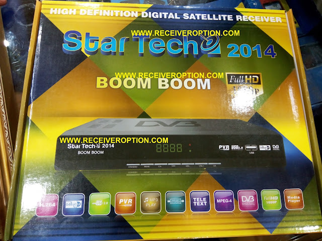 STAR TECH 2014 BOOM BOOM HD RECEIVER BISS KEY OPTION