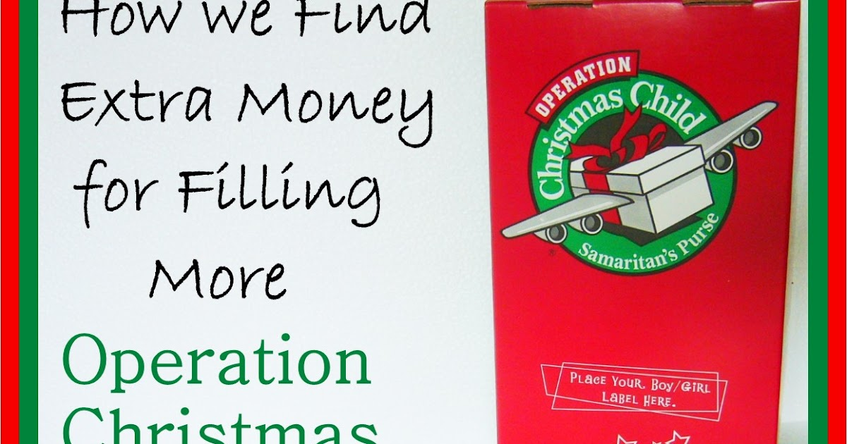 Simply Shoeboxes: How We Find Extra Money for Filling OCC Shoeboxes