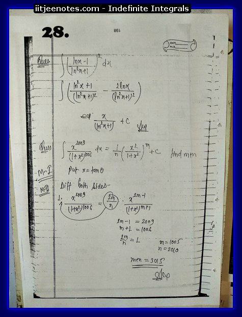 indefinite integrals notes download4