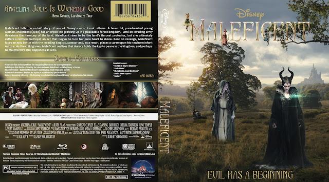 Maleficent Bluray Cover