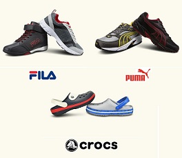 Puma, Fila, Crocs Footwear – Flat 50% Off@ Amazon