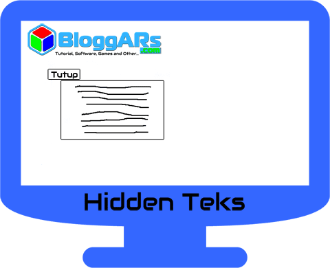 Cara Menyembunyikan Teks pada Postingan Blog