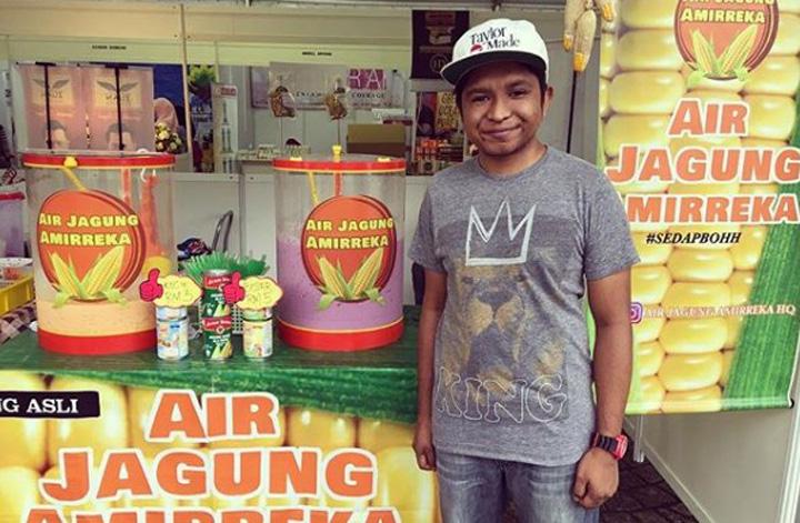 Pelawak Amir Jual Air Balang Perisa Jagung Ada Stokis
