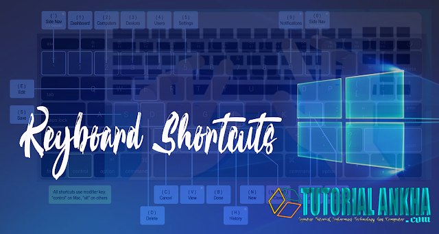 Daftar Jalan pintas keyboard windows 10 Terbaik  (Keyboard Shortcuts)