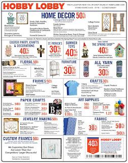 Hobby Lobby Weekly Ad February 18 - 24, 2018