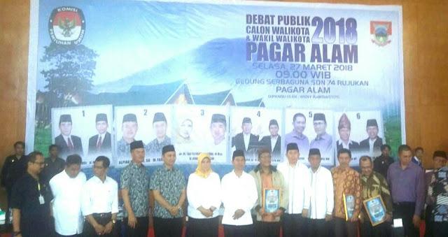 Debat Publik Yang Digelar KPU Pagaralam Berlangsung Sukses