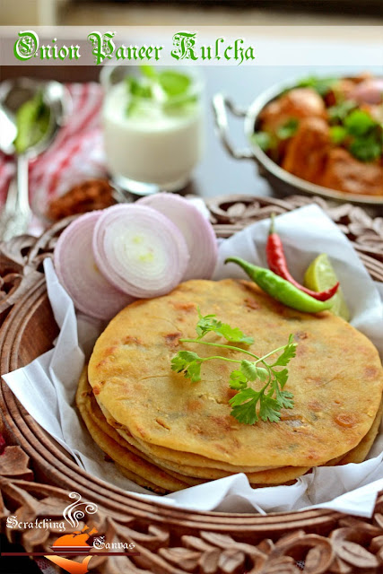 Recipe | Onion Paneer Kulcha: Stuffed Flat Bread (Yeast ...