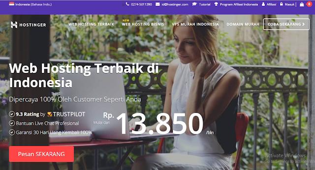 Hostinger Web Hosting Indonesia