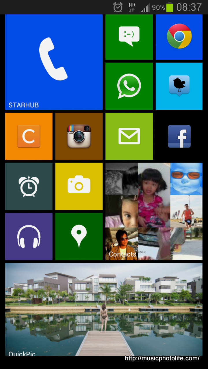 Phone Make Android Windows Phone windows phone interface on android launcher 8 but since widgets do not behave like live tiles the developer coded special to make look