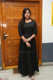 Anjali in Black Short Dress at Chitrangada Movie Success Meet ~  029.JPG