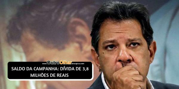HADDAD TEVE 15 VEZES MAIS GASTOS DE CAMPANHA QUE BOLSONARO