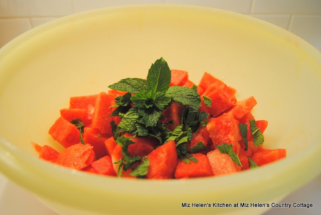 Watermelon Mint Salad at Miz Helen's Country Cottage