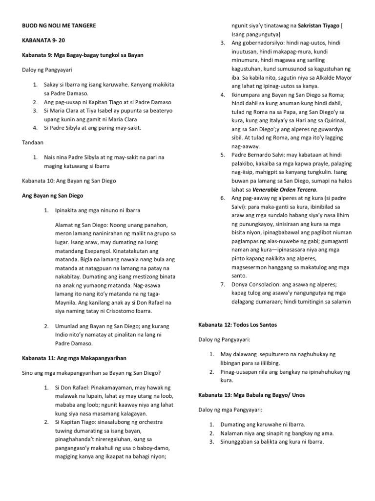 Noli me tangere pdf buod