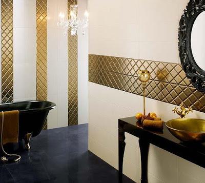 azulejo color oro y nacarado