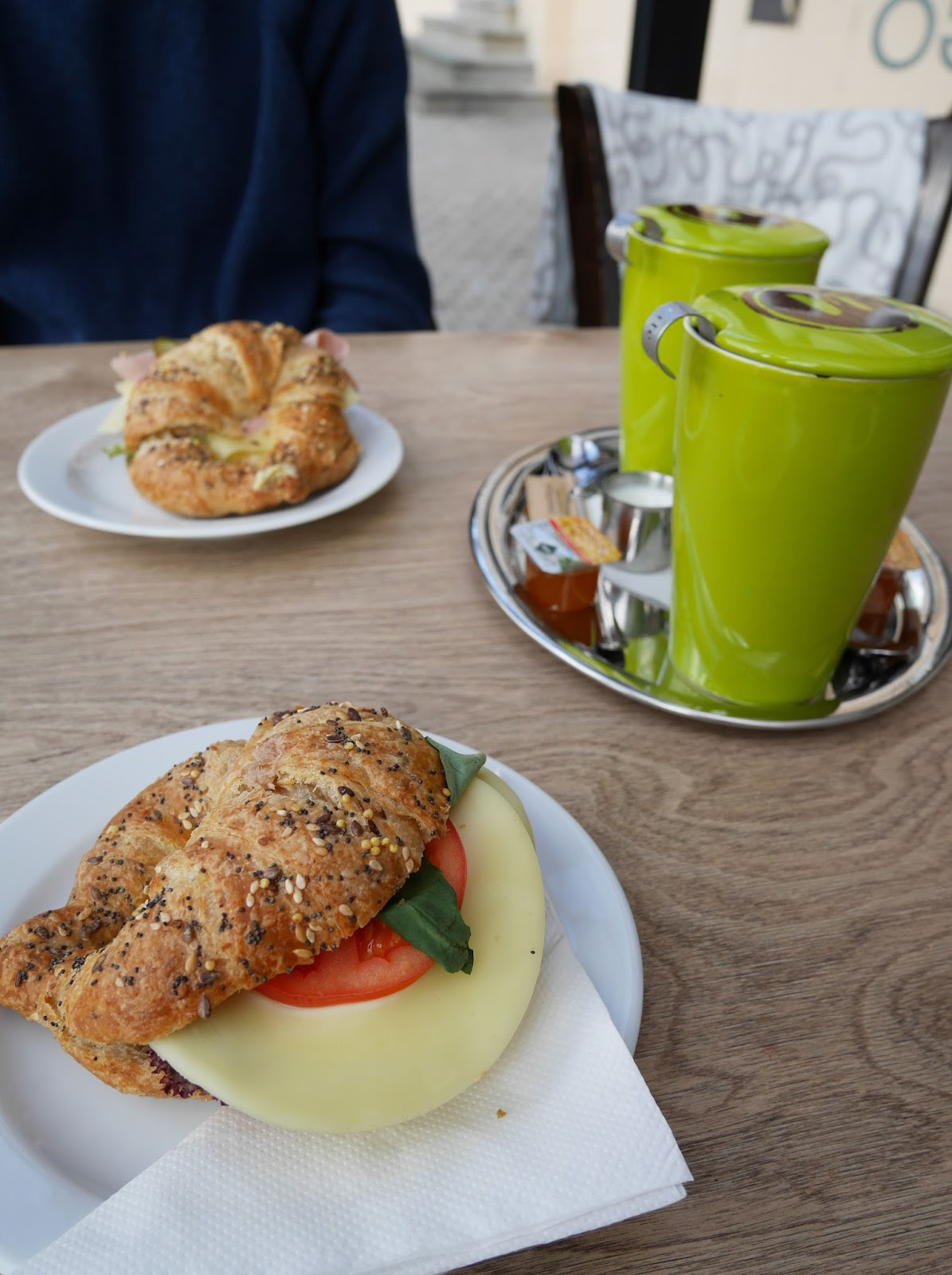 Croissant sandwiches at Moods Bakery and Coffee, Bratislava