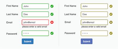 Formulario de contacto basandose en el color para señalar errores