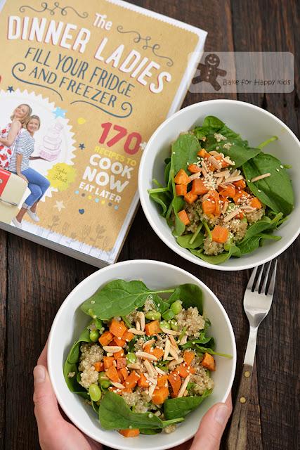 superfoods salad quinoa sweet potato spinach edamame