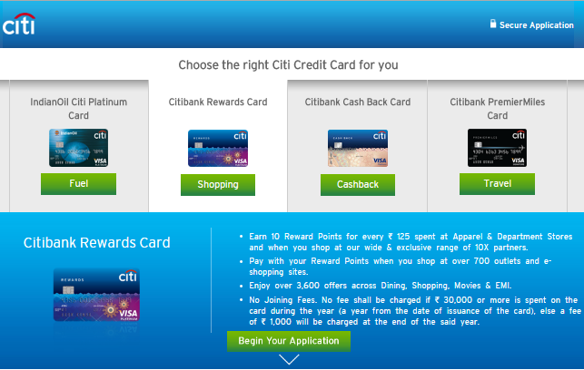 Apply Online for Citi Cards