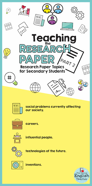 Research paper topics for middle school and high school students.