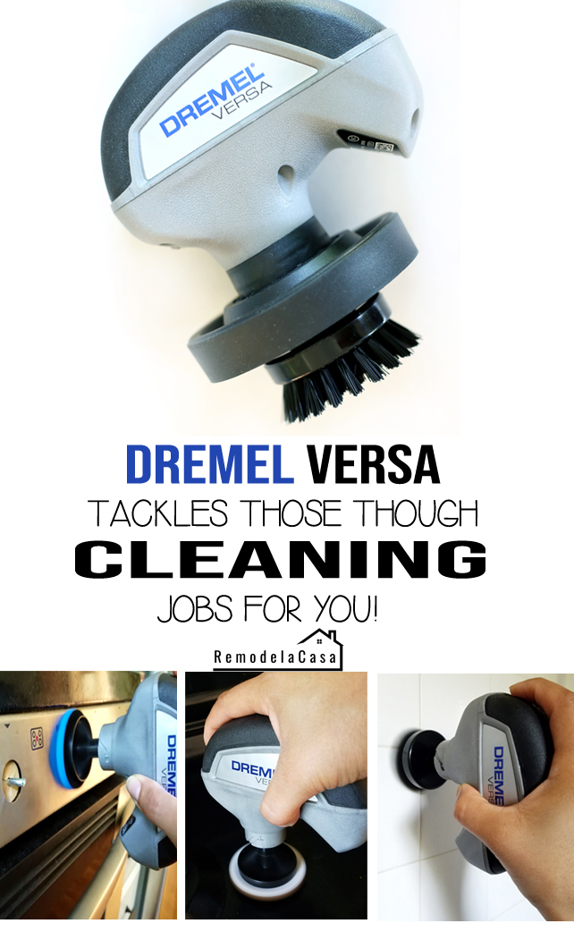 cleaning stove, bathroom tile, etc. is easier with the power of Dremel Versa