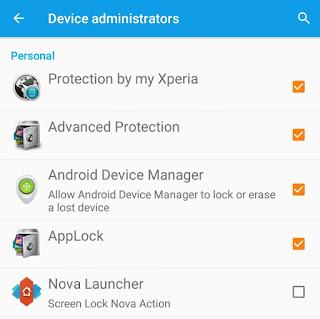 Device administrators