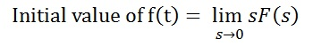 Initial value Theorem-1