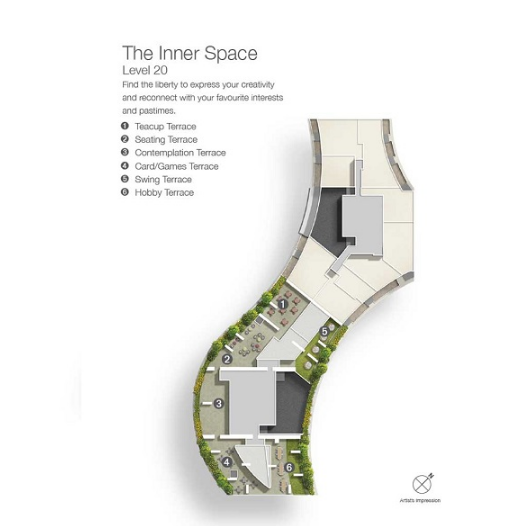 Duo Residences The Inner Space Level 20 Plan