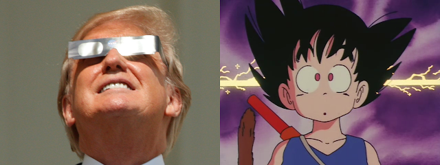 Donald Trump Kid Goku Dragon Ball DB DBZ full moon total solar eclipse Blutz Waves Oozaru Great Ape Saiyan SSJ4