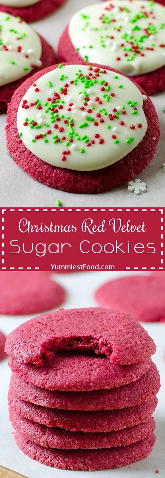Christmas Red Velvet Sugar Cookies Recipe