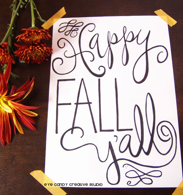 fall decorating, fall art print, happy fall print, fall decor, decorating for fall