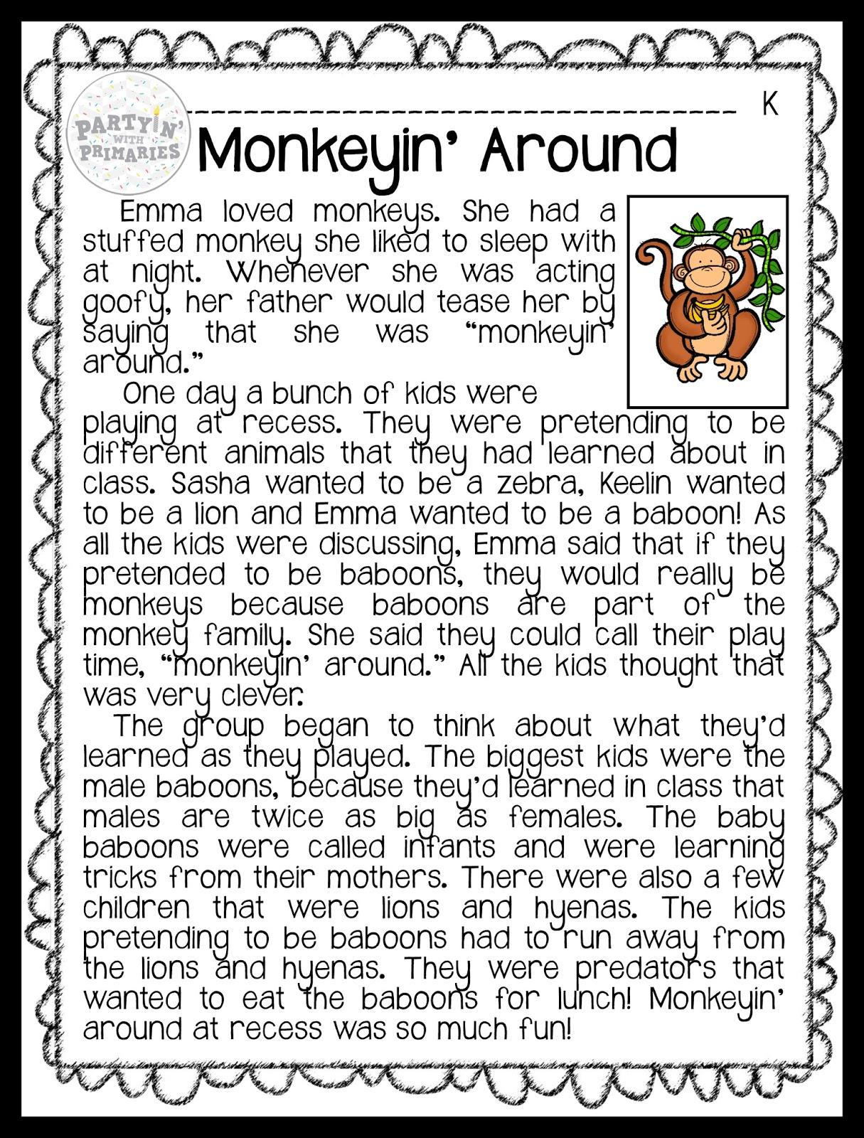 6th grade narrative reading passages [ 1600 x 1215 Pixel ]