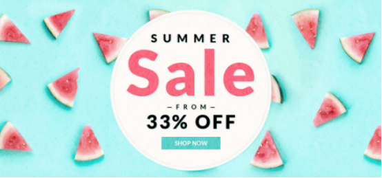 Promotion summer sale!