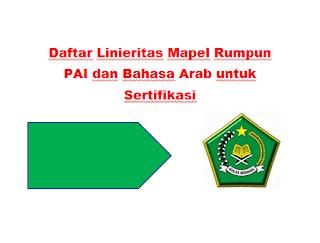 Bagi anda para Guru Madrasah yang akan sertifikasi Daftar Linieritas Mapel Rumpun PAI dan Bahasa Arab untuk Sertifikasi
