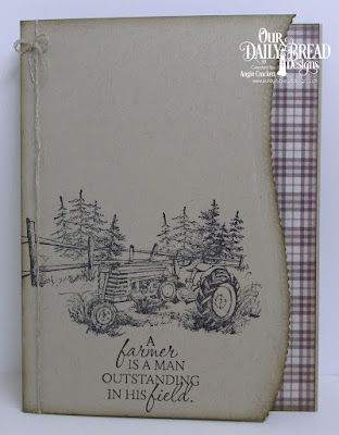 ODBD Plough the Fields, ODBD Ephemera Essentials Paper Collection, ODBD Custom Leafy Edged Borders Dies, Card Designer Angie Crockett
