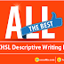 All The Best For SSC CHSL Descriptive Writing Exam
