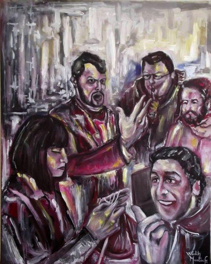 Ливанский художник. Wadih Maalouf