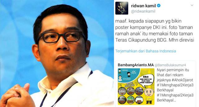 Poster Kampanye Ahok-Djarot Pakai Foto Taman Cikapundung, Ini Teguran Ridwan Kamil
