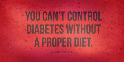 You can't control diabetes without a proper diet.