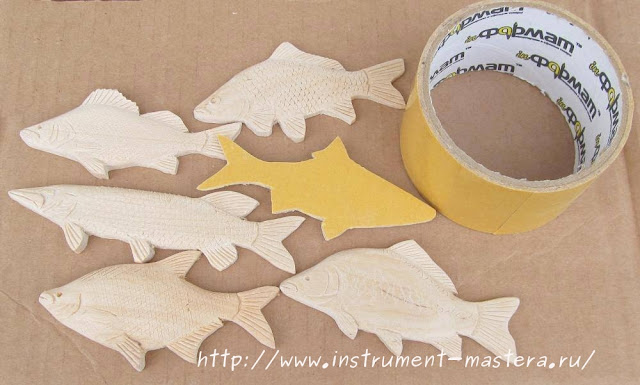 деревянные рыбки для творческих работ