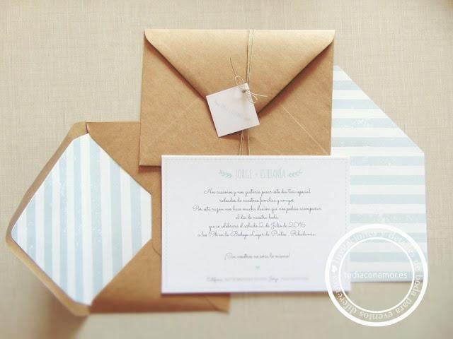 Invitaciones de boda bonitas y con encanto hechas a medida
