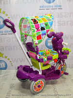 Sepeda Roda Tiga Royal RY9882CJ Baby Roy Dobel Musik Jok Kain Ungu