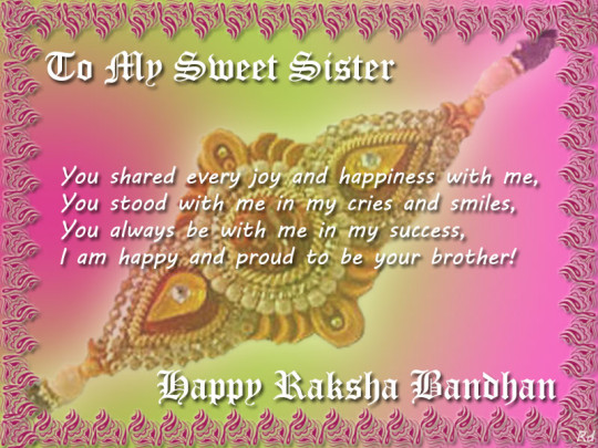 Happy raksha bandhan wishes for brother