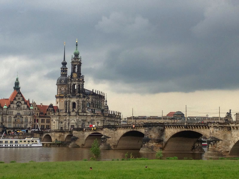 Dresden Neustadt - Bridge on River Elbe