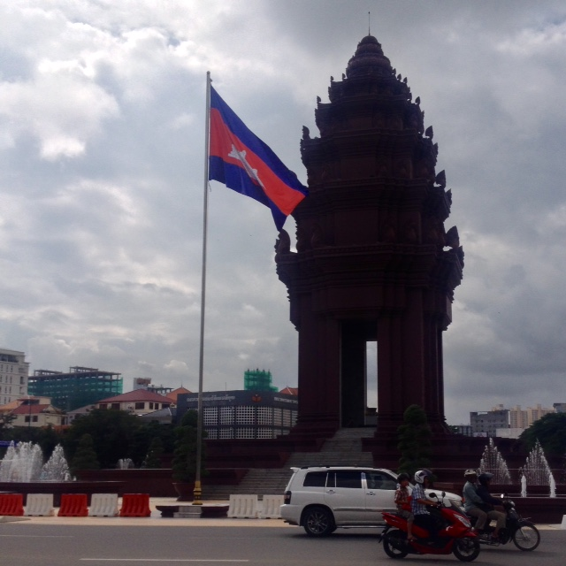 the Cambodian independence monument in Phnom Penh