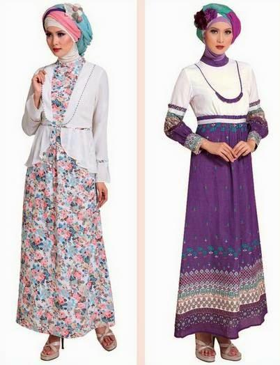 Desain busana muslim gamis brokat untuk remaja trendy