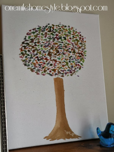 Multi-color tree watercolor painting