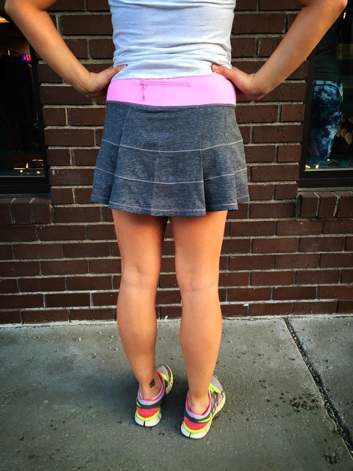 lululemon gray pace rival skirt