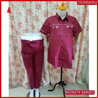 MOM274B17 Baju Setelan Hamil Kantor Menyusui Bajuhamil Ibu Hamil
